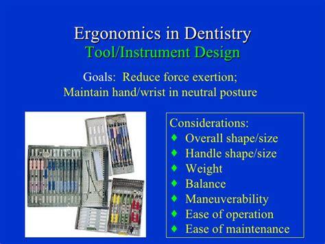ergonomic applications  dental practice