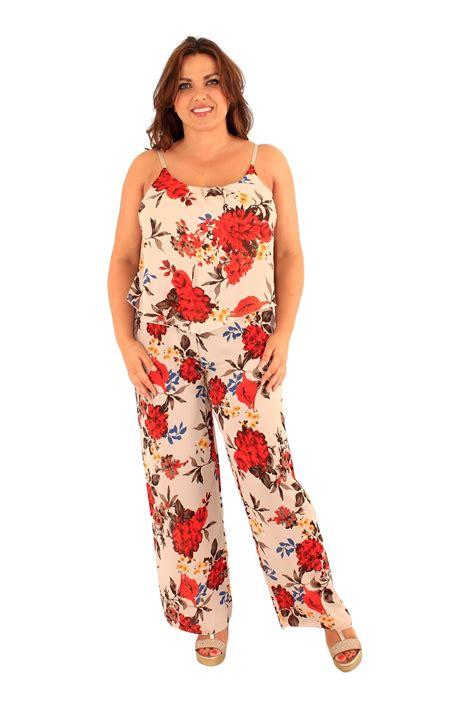 wide leg jumpsuit plus size plus size floral strappy chiffon jumpsuit wide leg