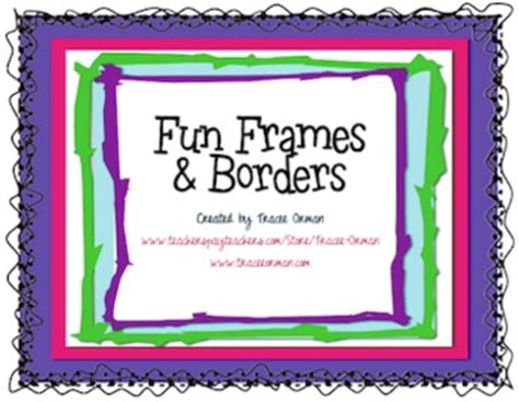 fun frames borders clip art  commercial   tracee