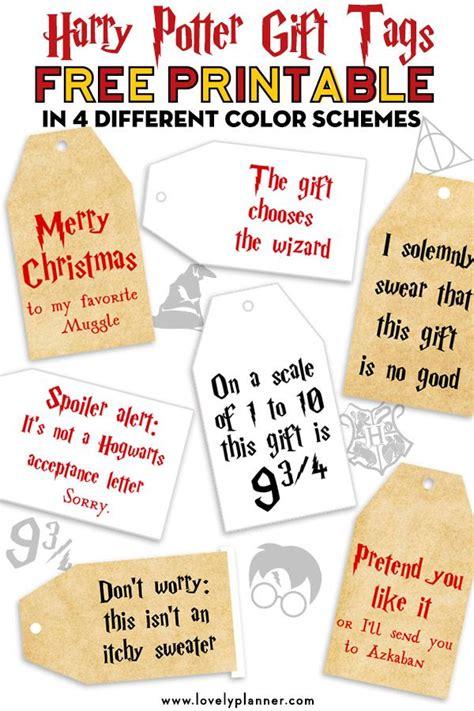 printable harry potter christmas gift tags harry
