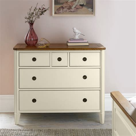 Two Drawer Chest Of Drawers by Bentley Designs Two Tone 3 2 Drawer Chest