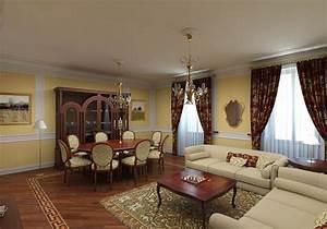Classic interior design for Interior decorated house pictures