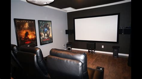 diy home theater  room  epson  projector