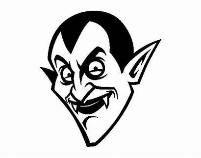 Dracula Count Head Halloween Colorear Coloring Para