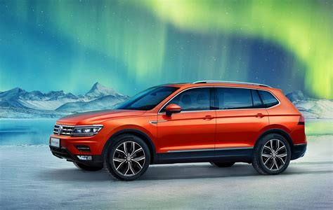 volkswagen tiguan allspace  seater revealed  chinese