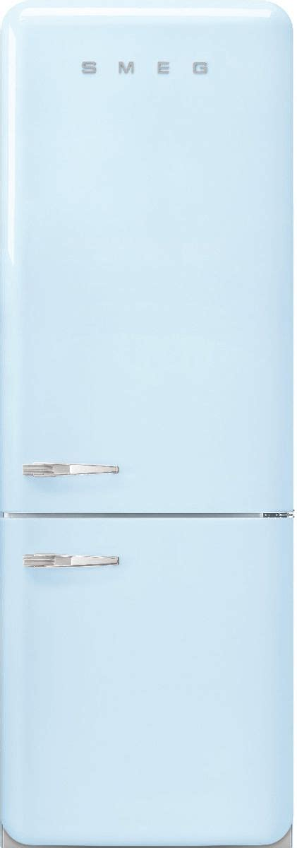 smeg  retro style  cu ft pastel blue bottom freezer refrigerator faburpb friedmans