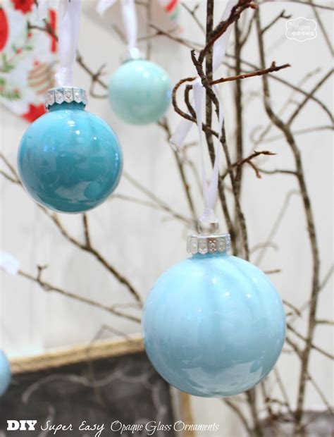 diy super easy opaque glass painted ornaments blue