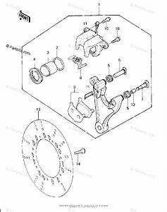 Kawasaki Motorcycle 1980 Oem Parts Diagram For Rear Brake