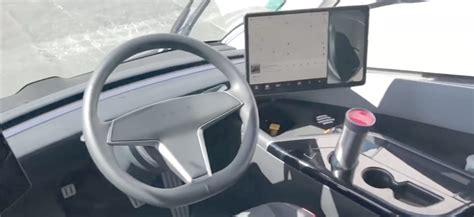prototype tesla semi truck interior