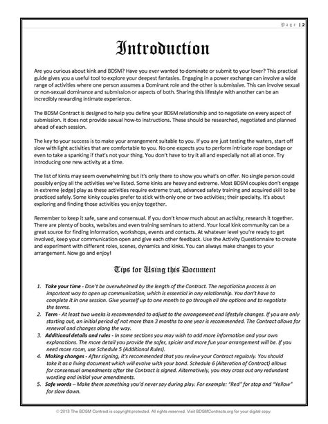 dom sub contract template dominant contract