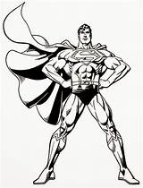 Superman Coloring Pages Steel Printable Sheets Colouring Print Super Hero Batman sketch template