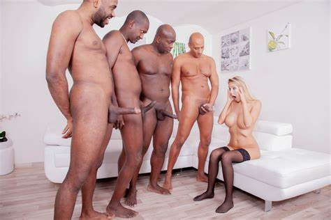 Stud Loving Negress Nympho Four Studs For Pigtails Girlfriends