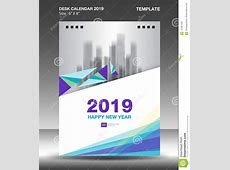 Cover Desk Calendar 2019 Design Template, Flyer Template