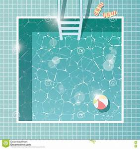 Vector Of Swimming Pool Top View Cartoon Vector ...
