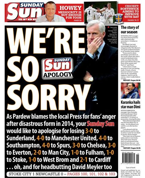 Twitter praise for Sunday Sun's 'brilliant' back page