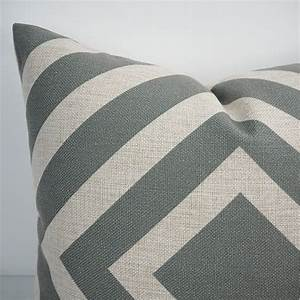 Geometric grey pillow covers 24x24 inch extra large sofa for Sofa cushion covers 24x24