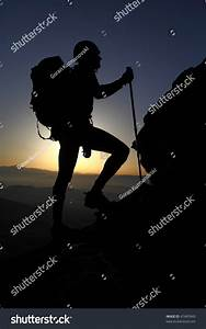 Mountaineer Silhouette Stock Photo 47463949 - Shutterstock