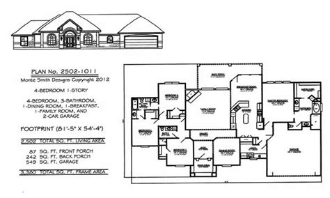 single story 4 bedroom house plans 4 bedroom single family 4 bedroom one story house plans 1