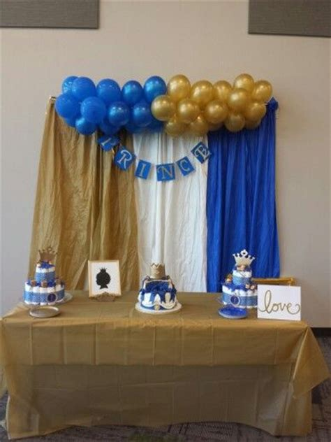 royal blue  gold prince themed baby shower party