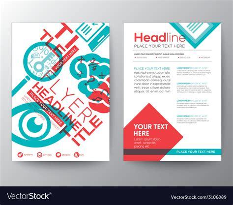 typography brochure flyer design layout template vector image