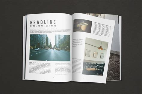 Magazine Format Template by 150 Free Book And Logo Mockups For Graphic Designers