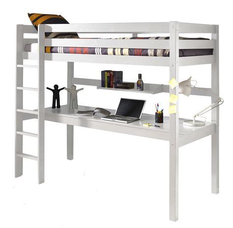 mezzanine avec bureau lit mezzanine 1 place avec bureau clara en pin massif so