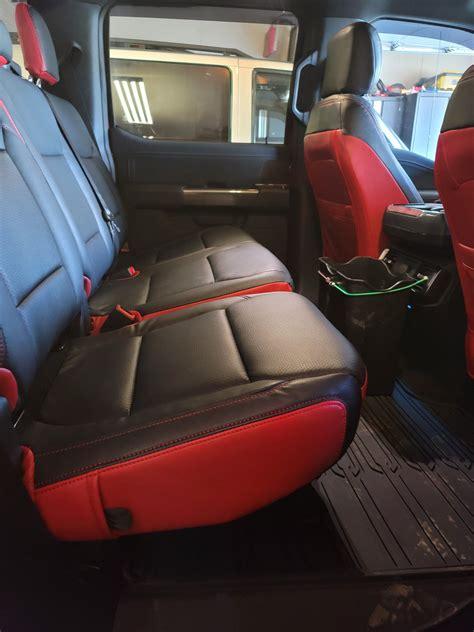katzkin seat covers black red      xlt