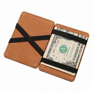 magic wallet leather card case slim mini card holder wallet