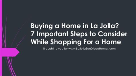 Buying A Home In La Jolla 7 Important Steps To Consider