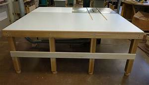 New extension and outfeed tables for SawStop table saw