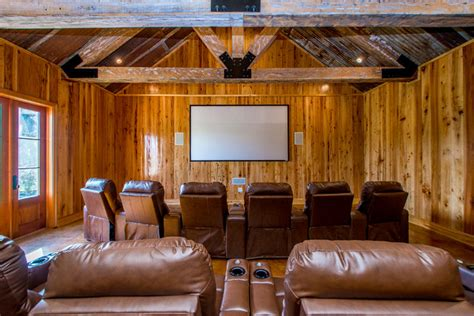 man cave rustic home theater  orleans