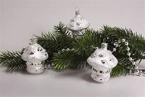 Weihnachtskugeln Aus Lauscha : 3 pilze eisweiss mit silber christbaumkugeln ~ Orissabook.com Haus und Dekorationen
