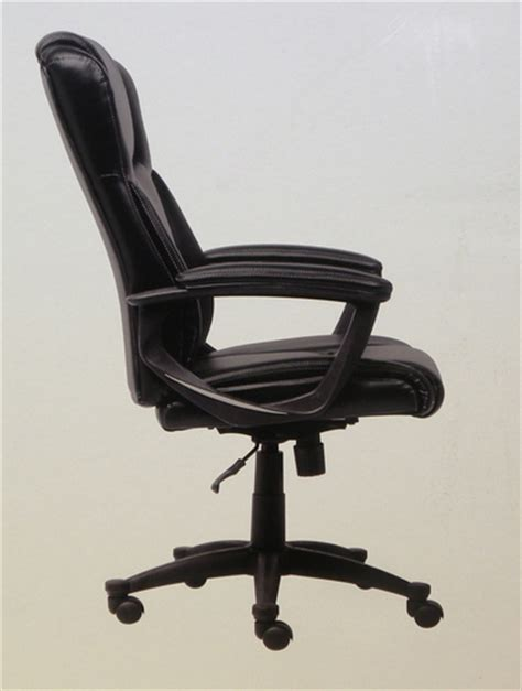 new in box broyhill bonded leather exective chair black