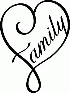 Family heart | Lettering, Stencils, Silhouette online store