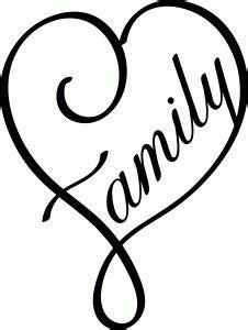 Family heart   Lettering, Stencils, Silhouette online store