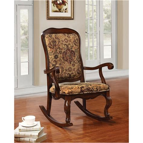 acme sharan collection cherry finish wood and tapestry