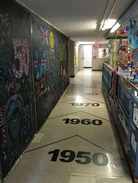 dance   decades decorated hallway chalkboard