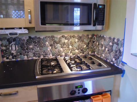 how to backsplash kitchen river rock backsplash give a and accent to