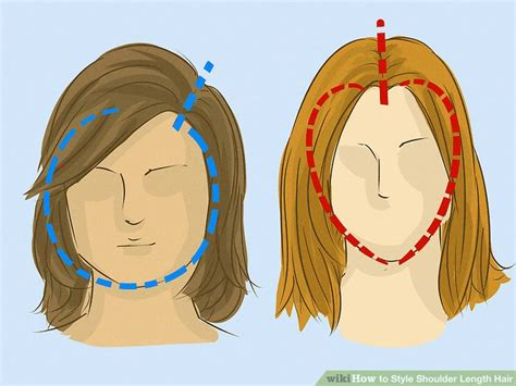 how to style to medium length hair 3 ways to style shoulder length hair wikihow 9539