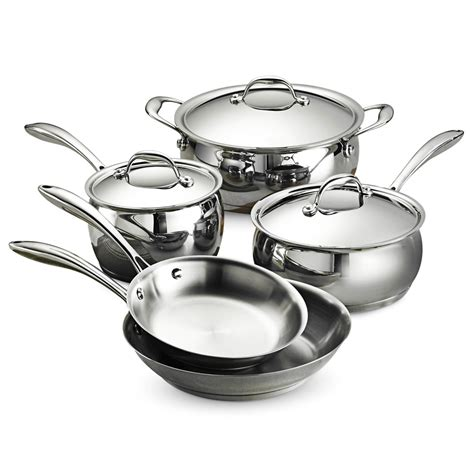 cookware stainless steel sets gourmet tramontina domus piece ply tri pans pots cooking pc oven kitchen clad wolfgang kitchenaid copper