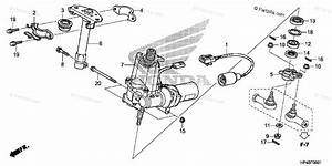 Honda Atv 2012 Oem Parts Diagram For Steering Shaft  2