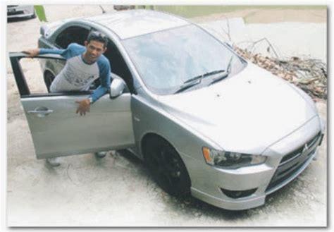 jenis kereta mitsubishi kereta mitsubishi lancer nabil ahmad kena pecah