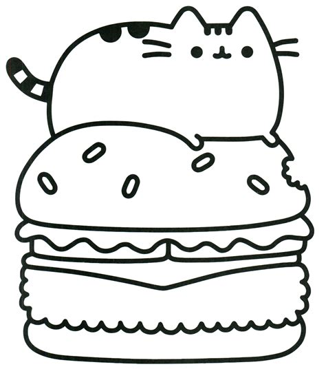 pusheen cat coloring pages color pusheen coloring