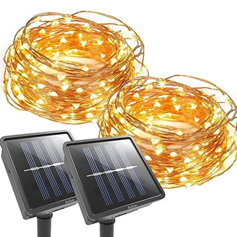 best outdoor solar lights best rated outdoor solar powered string lights 2017 top