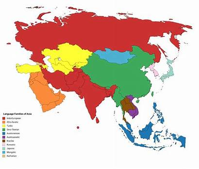 Asia Language Map Families Tv Infographic Chart