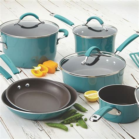 rachael cookware ray agave porcelain enamel nonstick piece sets glass pans pots cucina giveaway stoves pan amazon kitchen hard ceramic