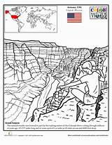 Canyon Grand Coloring Pages Education Worksheets Worksheet Sheets Grade Geography Places Colouring Printable Arizona Drawing Second Take Trip Craft Around sketch template