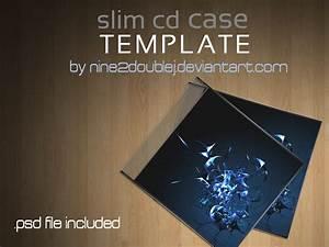 Slim cd case template by nine2doublej on deviantart for Cd case artwork template