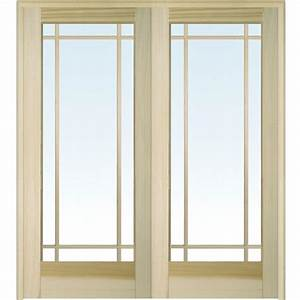 Builder's Choice 48 in. x 80 in. 10-Lite Clear Wood Pine ...