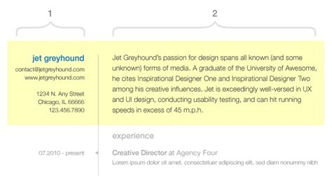 the usability of resume design
